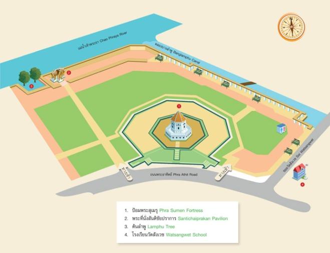 สวนสาธารณะสันติชัยปราการ จาก : http://office.bangkok.go.th/publicpark/park21.asp
